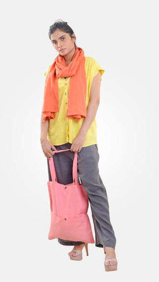 PCC Tote Bag 001 Front Patch Pocket Tote Bag