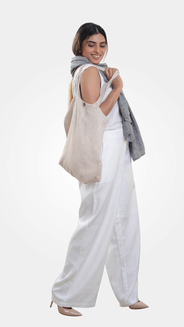 PCC Tote Bag 002 Simple Tote Bag with Self Fabric Inside Pocket