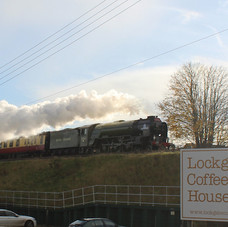 Steam train passing by