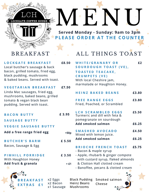 New Winter Menu Breakfast & All things T