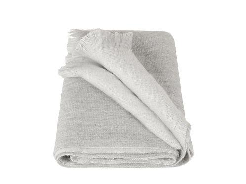 Alpaca Loca Double Scarf Light Grey/White