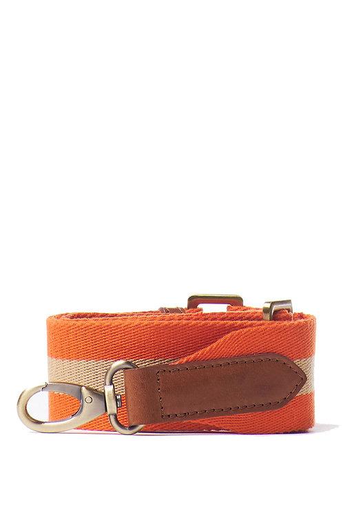 Kopie van O My Bag Webbing Strap Orange Cognac