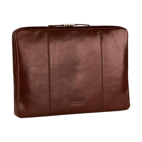 "Leonhard Heyden Cambridge Laptop Sleeve 15"" Roodbruin"