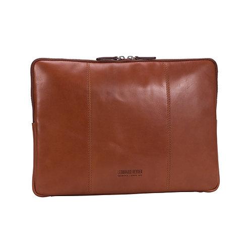 """Leonhard Heyden Cambridge Laptop Sleeve 13"""" Cognac"""