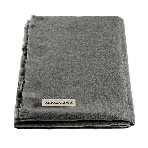 Alpaca Loca Single Scarf Dark Grey