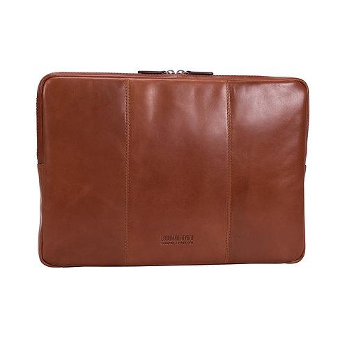 """Leonhard Heyden Cambridge Laptop Sleeve 15"""" Cognac"""