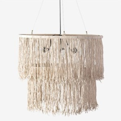 JEFFAN Bryer Fringe Drum Chandelier #LM-3109-CR