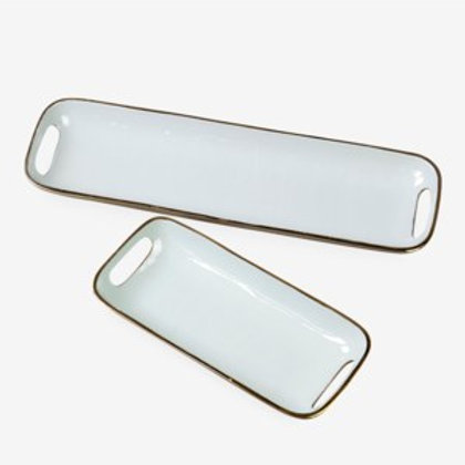 Jeffan Rectangular brass tray with enamel  AT-31362-SF