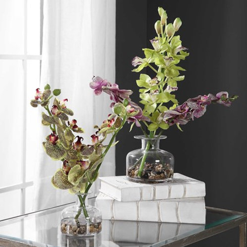 Uttermost MALIN ORCHID BUD VASES, S/2 #60142