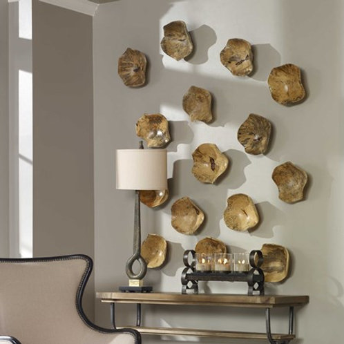 Uttermost TAMARINE WOOD WALL DECOR, S/3 #04107