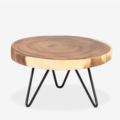 "Jeffan 11"" Round Wooden Teak Riser  AC-70374-L"