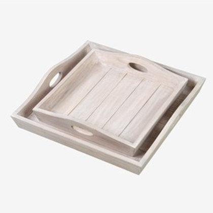 Jeffan Sammie Wooden Tray Set  AC-69000-NT
