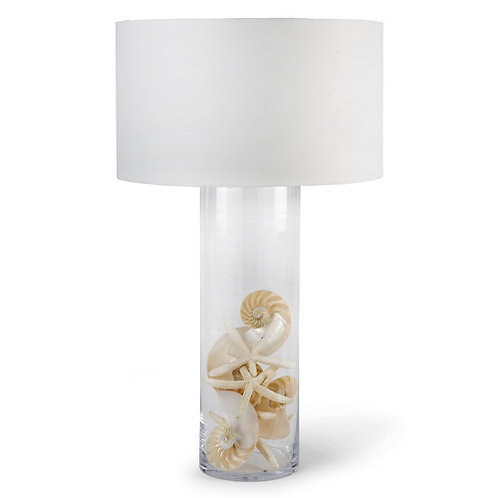 Regina Andrew Glass Cylinder Table Lamp 13-1068