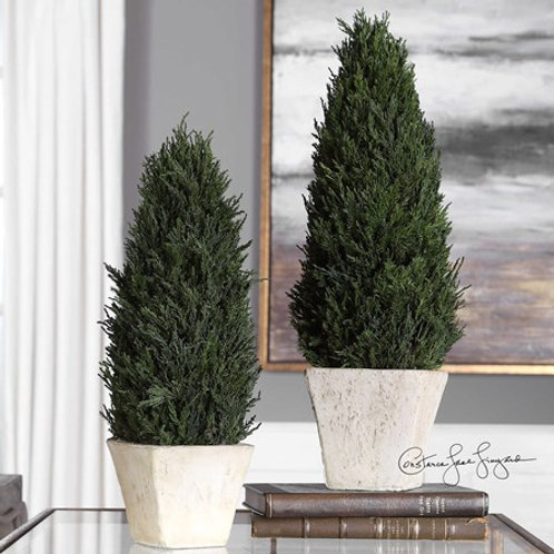 Uttermost CYPRESS CONE TOPIARIES, S/2 #60140