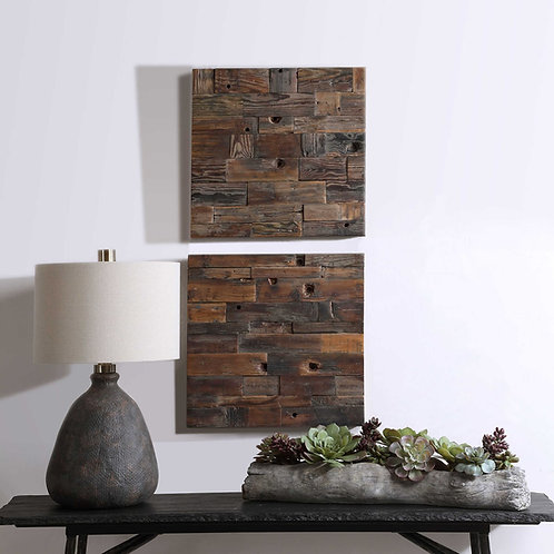 Uttermost ASTERN WOOD WALL DECOR, S/2 #04239