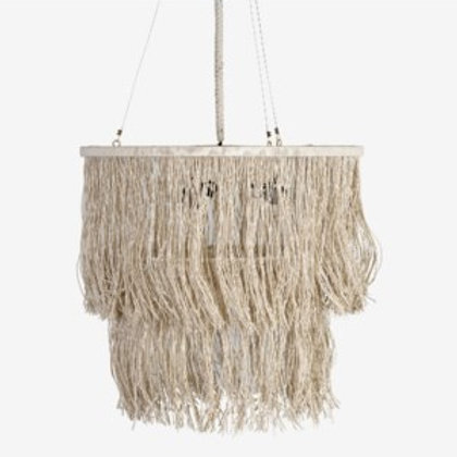 "JEFFAN Bryer 24"" Fringe Drum Chandelier #LM-3109-M-CR"