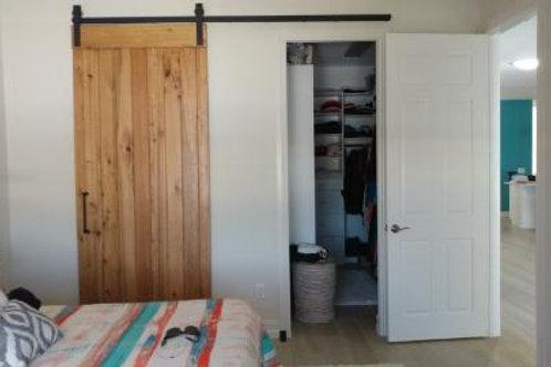 Single door covers 2 openings