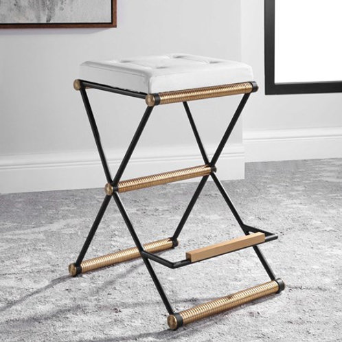 Uttermost X MARKS THE SPOT COUNTER STOOL 25076