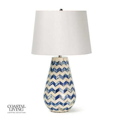 Regina Andrew Cassia Chevron Table Lamp 13-1463BL