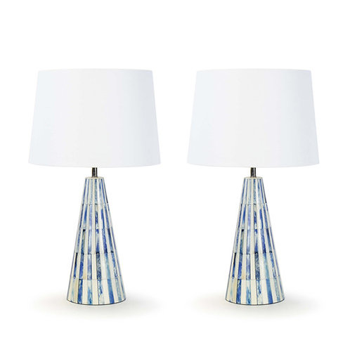 Regina Andrew KARA BONE Table Lamps 09-0221BLU