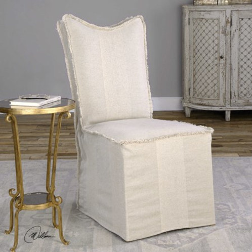 Uttermost LENORE ARMLESS CHAIRS, FLAX, 2 PER BOX #23311
