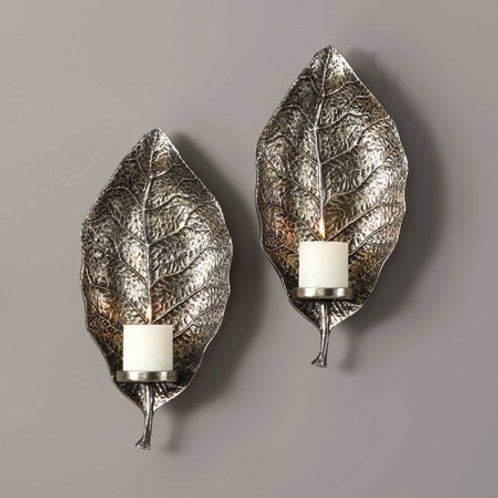 Uttermost ZELKOVA CANDLE SCONCES, S/2 #04138