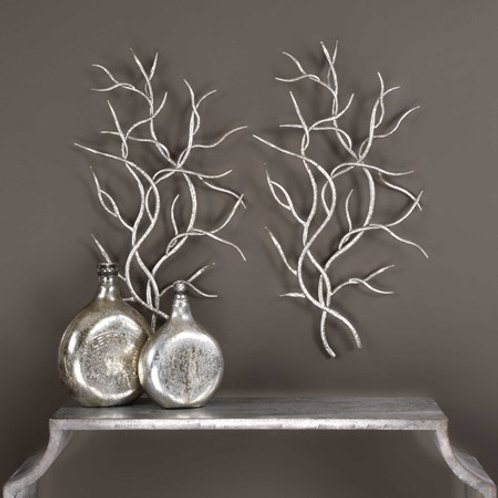 Uttermost SILVER BRANCHES METAL WALL DECOR, S/2 #04053