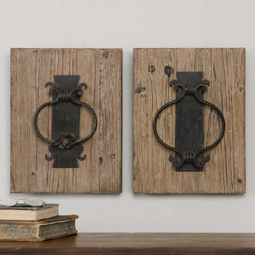 Uttermost RUSTIC DOOR KNOCKERS, S/2 #07654