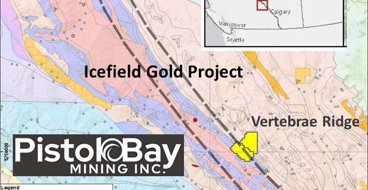 Pistol Bay Mining Acquires Icefield Gold Project in Southern British Columbia from DGRM