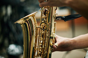 Person Playing Saxophone