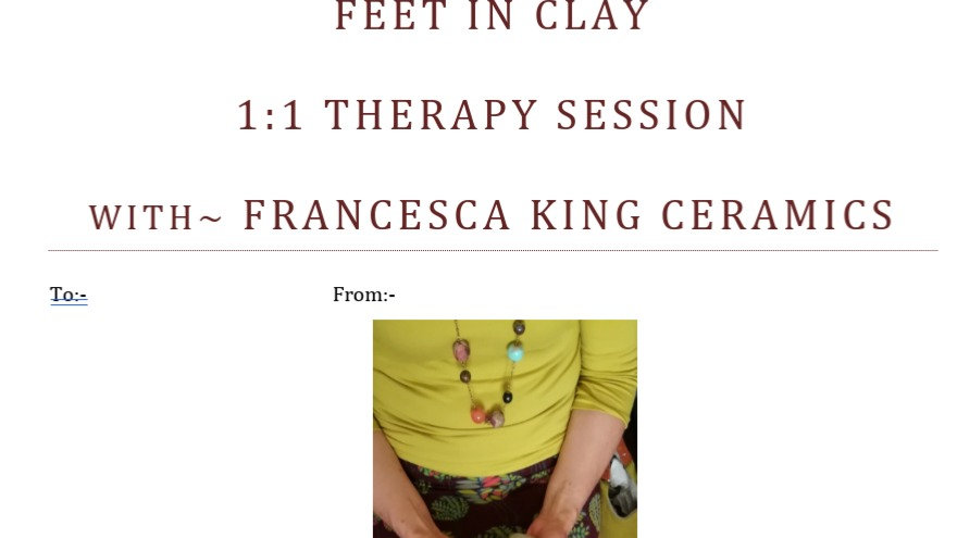 Feet in Clay Therapy session Gift Card