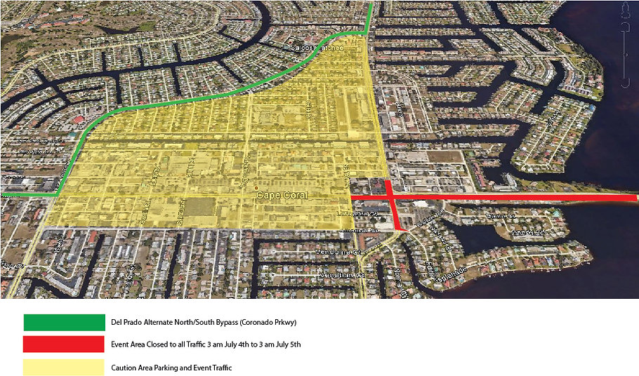 Parking Map of Cape Coral
