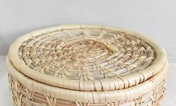 Moonj Round Basket by Artisans