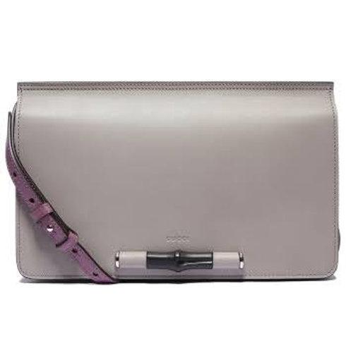 Gucci Lady Bamboo Leather Shoulder Handbag 370817
