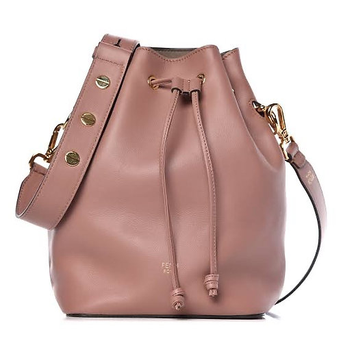 Calfskin Fendi  Tresor Balde Bag English Rose