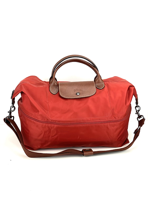 LE PLIAGE EXPANDABLE TRAVEL BAG RED