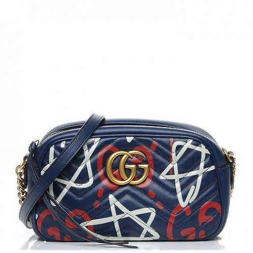 GucciGhost Print  GG Marmont Azul