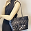 Thumbnail: Chanel Glazed Calfskin Quilted duo color Tote black