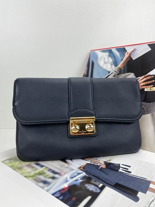 Louis Vuitton Blue  Leather Sofia Coppola Slim Clutch MM Bag