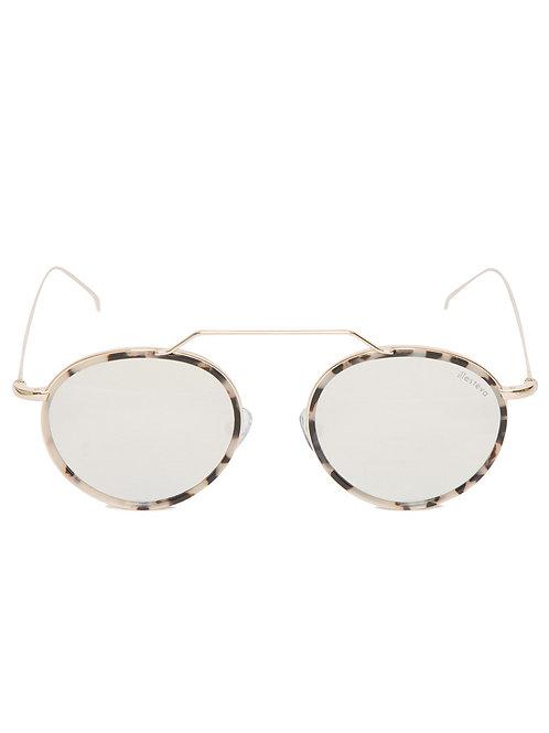 Óculos De Sol Illesteva Wynwood Ace Prata Espelhado