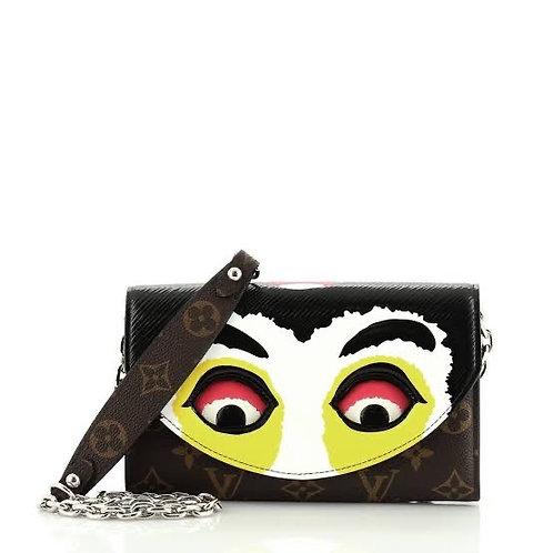 LV Kabuki chain wallet printed