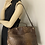 Thumbnail: FURLA PIPER CROC EMBOSSED BROWN LEATHER SATCHEL/CROSSBODY BAG