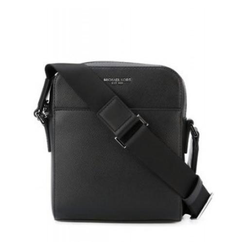 Zip up shoulder bag Leather Black Men Bags T2UG8RUH6
