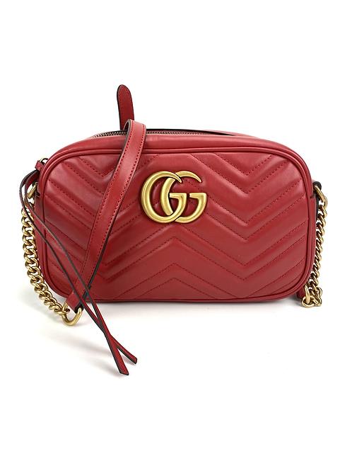 Gucci Marmont 24cm vermelha