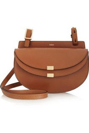Chloe Georgia Mini Leather Crossbody Bag Tan