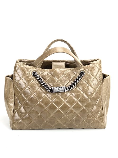 Chanel  Orylag Shopping Tote with Chain and Chanel Plate