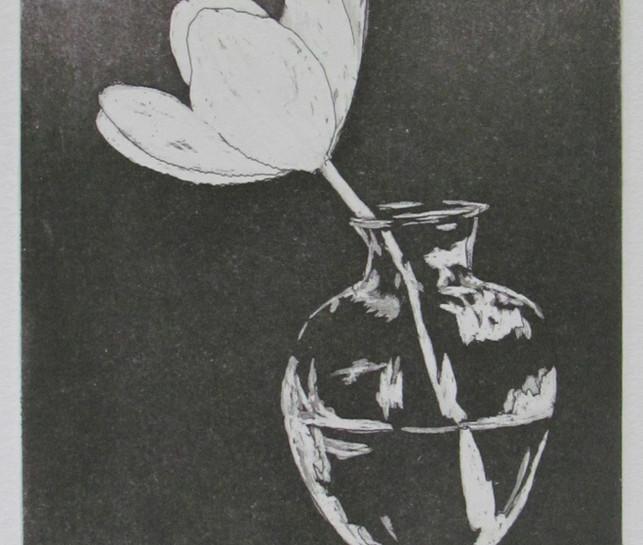 Flor en florero
