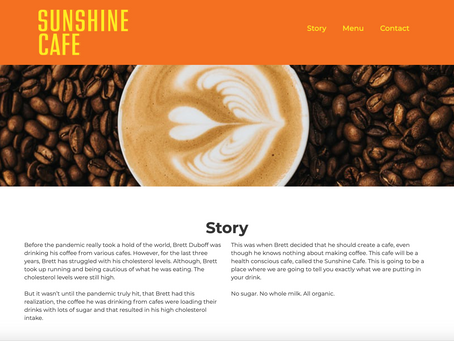 Sunshine Cafe - Website