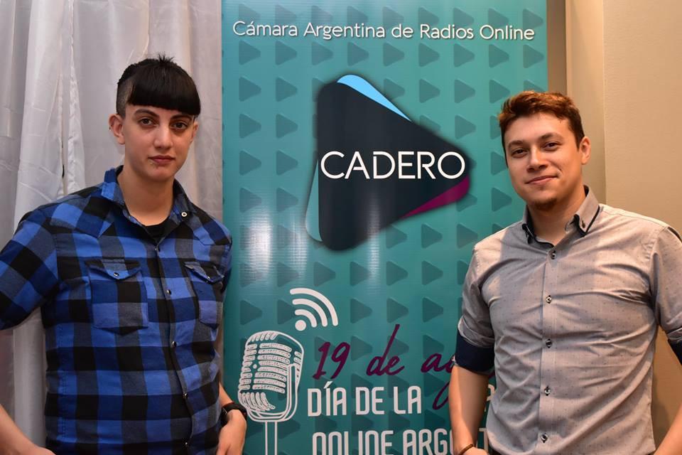 Gabita (operadora) y Marcos (productor)