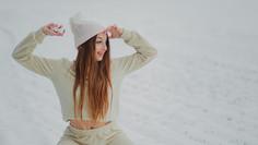 Spontaniczna sesja na śniegu